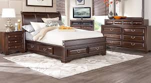 mill valley ii cherry 5 pc sleigh bedroom with storage
