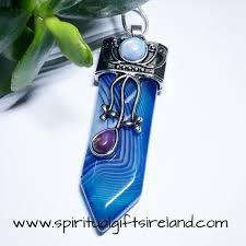 purple gemstone necklace images Botswana blue agate divine goddess gemstone necklace spiritual jpg
