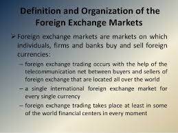 meaning of bureau de change foreign exchange market