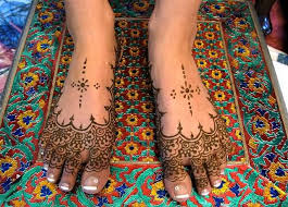 henna foot tattoo art and designs