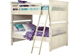 Kids Bedroom Furniture Bunk Beds Emma U0027s Escape White Wash Full Full Bunk Bed Beds White