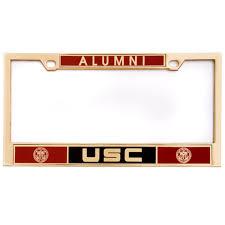 sdsu alumni license plate frame usc alumni heavy chrome license plate frame must buy