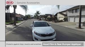 Build A Kia by Hood Film And Rear Bumper Applique Kia Accessories Youtube