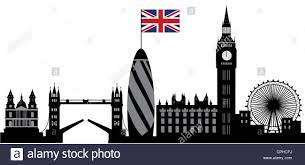 The England Flag London Skyline With The England Flag Stock Photo Royalty Free