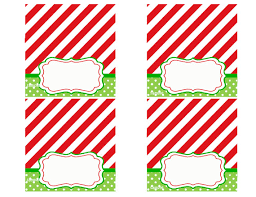 christmas party tent style place cards printable by thatpartychick