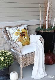 Fall Porch Decorating Ideas Cozy Rustic Fall Porch Decor Setting For Four