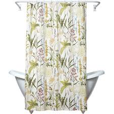 Ivory Shower Curtain Zenna Home India Ink Huntington Fabric Shower Curtain Floral