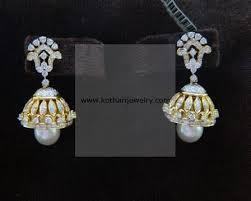 diamond earrings india diamond earrings designer diamond bali earrings 18kt indian