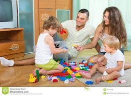 happy family in home interior stock photo image 53174735