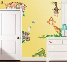 five cute animal wall stickers for your nursery infobarrel in the jungle large repositionable wall decals