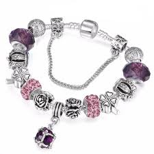 pandora style silver charm bracelet images Spinner european style vintage silver plated crystal charm jpg