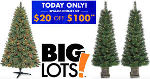 target black friday pre lit christmas tree white lights big lots 20 off 100 purchase u003d 6 u2032 pre lit christmas tree and 2