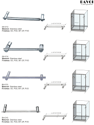 Bathroom Door Hinge Towel Rack Bathroom Towel Bar Manufacturer For Glass Door Bh 013 Bh 014 Bh