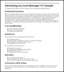 account executive resume advertising manager resume account executive resume template