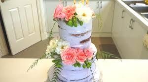 fresh flowers cake with fresh flowers