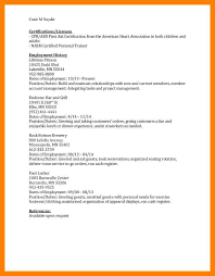 Footlocker Resume 5 Cpr Certification On Resume Authorize Letter
