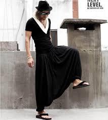 best japan samurai style loose elastic waist harem pants culottes