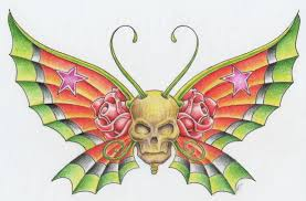 skull butterfly by 12kathylees12 on deviantart
