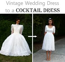 repurpose wedding dress diy vintage wedding dress to a cocktail dress is beautiful
