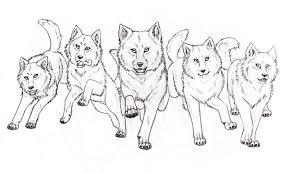 Wolf Pack By Inarium On Deviantart Wolf Pack Coloring Pages