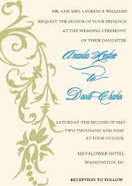 wedding invitations format wedding ideas sles of wedding invitations invitation wording