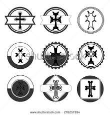 armenian crosses vintage set crosses armenian cross stock stock vector 278257394