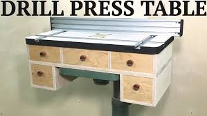best drill press table make it drill press table youtube