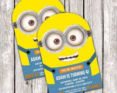 diy minion invitations despicable me minion party supplies s