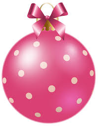 christmas pink dotted ball png clipart image gallery