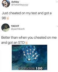 Yacht Meme - dopl3r com memes ashley yoashleyyyyy just cheated on my test