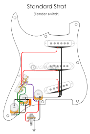 electric guitar wiring standard strat fender switch electric