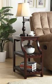 rosewood tall end table coffee brown rosewood tall end table coffee brown put garbage can on the shelf