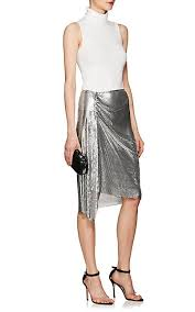 knee length skirt paco rabanne metal mesh knee length skirt barneys new york