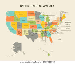 usa map states united states map state labels stock vector 690904279
