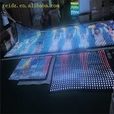 programmable led lights transparent mesh led wall
