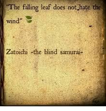 best zatoichi he falling leaf does nothate the wind zatoichi the blind samurai 1