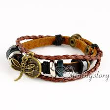 braided leather cord bracelet images Star round wholesale leather jewelry charm it sister charm jpg