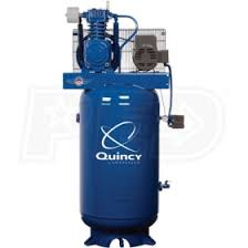 quincy 251cp80vcb 5 hp 80 gallon two stage qt pro air compressor