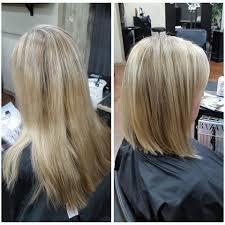 before after partial foil u0026 long bob haircut yelp