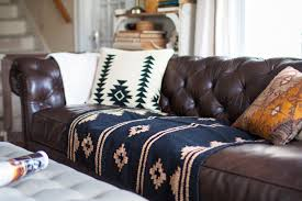 Saddle Brown Leather Sofa Living Room Redo With A New Leather Sofa