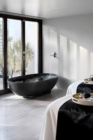 Black Bathrooms Ideas by Black Bath Tub Minimalistic Bathroom Love The Matte Black
