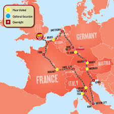 Map Of European Rivers by European Tours From London Europe Escape Tour Package Expat