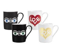 vitra coffee mugs eyes blue by alexander girard 1971 designer
