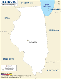 Map Of States With Capitals by Blank Map Of Illinois Illinois Outline Map
