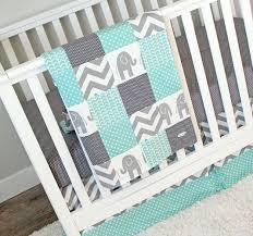 Green Elephant Crib Bedding Elephant Crib Bedding Set Mint Grey Nursery Bedding