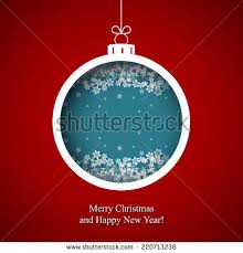 merry christmas happy new year snowflake stock illustration