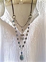 silver necklace diy images Labradorite delight triple strand gemstone necklace blue gray jpg