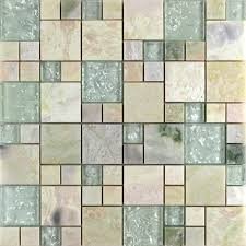 Glass And Stone Backsplash Tile by Wholesale Grey Stone With White Crystal Mosaic Tile Sheet Square