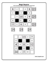 math puzzle worksheets for grade 1 how to solve magic squares