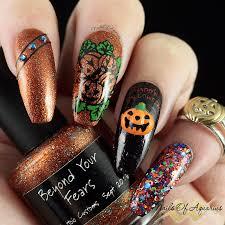 Halloween Nail Art Pumpkin - candied pumpkins anyone halloween nail art